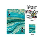 Mint,gold,marble,nature,stone,pattern,modern,chic,elegant,beautiful,trendy Playing Cards 54 (Mini)  Front - Spade10