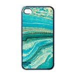 Mint,gold,marble,nature,stone,pattern,modern,chic,elegant,beautiful,trendy Apple iPhone 4 Case (Black) Front