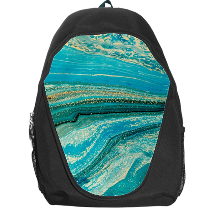 Mint,gold,marble,nature,stone,pattern,modern,chic,elegant,beautiful,trendy Backpack Bag
