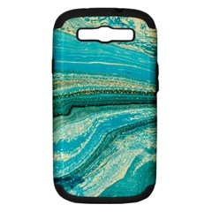 Mint,gold,marble,nature,stone,pattern,modern,chic,elegant,beautiful,trendy Samsung Galaxy S Iii Hardshell Case (pc+silicone) by 8fugoso