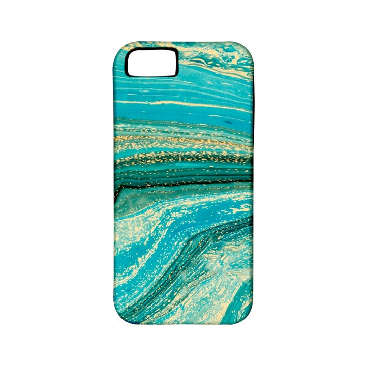 Mint,gold,marble,nature,stone,pattern,modern,chic,elegant,beautiful,trendy Apple iPhone 5 Classic Hardshell Case (PC+Silicone)