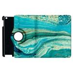 Mint,gold,marble,nature,stone,pattern,modern,chic,elegant,beautiful,trendy Apple iPad 3/4 Flip 360 Case Front