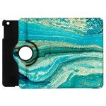 Mint,gold,marble,nature,stone,pattern,modern,chic,elegant,beautiful,trendy Apple iPad Mini Flip 360 Case Front
