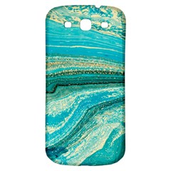 Mint,gold,marble,nature,stone,pattern,modern,chic,elegant,beautiful,trendy Samsung Galaxy S3 S Iii Classic Hardshell Back Case by 8fugoso
