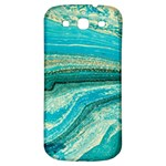 Mint,gold,marble,nature,stone,pattern,modern,chic,elegant,beautiful,trendy Samsung Galaxy S3 S III Classic Hardshell Back Case Front