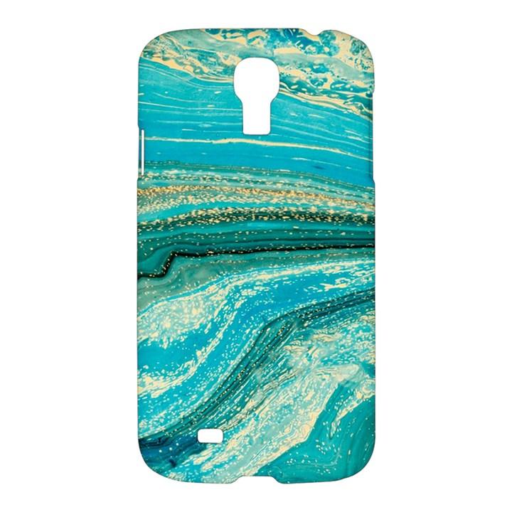 Mint,gold,marble,nature,stone,pattern,modern,chic,elegant,beautiful,trendy Samsung Galaxy S4 I9500/I9505 Hardshell Case