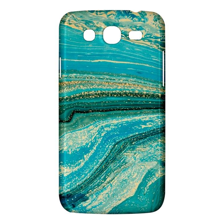 Mint,gold,marble,nature,stone,pattern,modern,chic,elegant,beautiful,trendy Samsung Galaxy Mega 5.8 I9152 Hardshell Case
