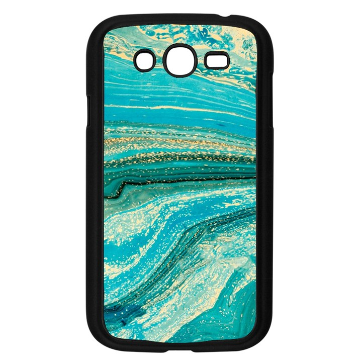 Mint,gold,marble,nature,stone,pattern,modern,chic,elegant,beautiful,trendy Samsung Galaxy Grand DUOS I9082 Case (Black)