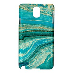 Mint,gold,marble,nature,stone,pattern,modern,chic,elegant,beautiful,trendy Samsung Galaxy Note 3 N9005 Hardshell Case by 8fugoso