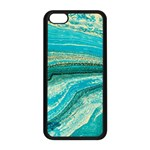 Mint,gold,marble,nature,stone,pattern,modern,chic,elegant,beautiful,trendy Apple iPhone 5C Seamless Case (Black) Front