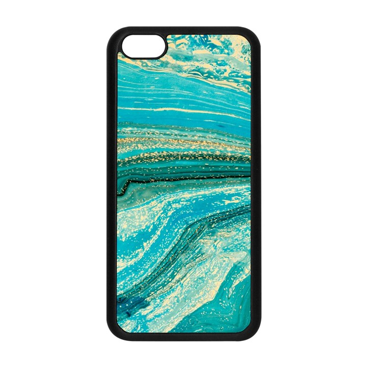 Mint,gold,marble,nature,stone,pattern,modern,chic,elegant,beautiful,trendy Apple iPhone 5C Seamless Case (Black)