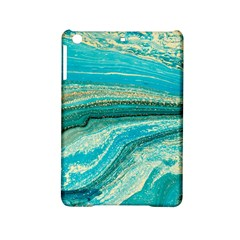Mint,gold,marble,nature,stone,pattern,modern,chic,elegant,beautiful,trendy iPad Mini 2 Hardshell Cases