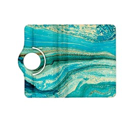 Mint,gold,marble,nature,stone,pattern,modern,chic,elegant,beautiful,trendy Kindle Fire Hd (2013) Flip 360 Case by 8fugoso
