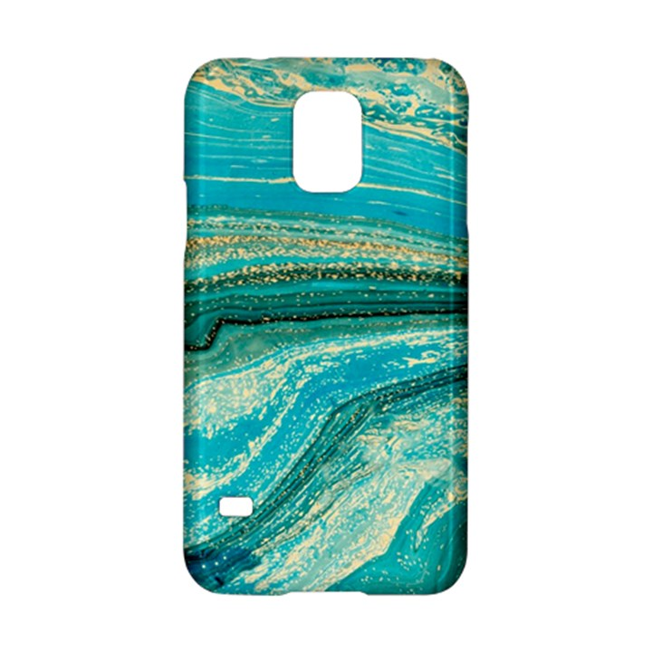 Mint,gold,marble,nature,stone,pattern,modern,chic,elegant,beautiful,trendy Samsung Galaxy S5 Hardshell Case