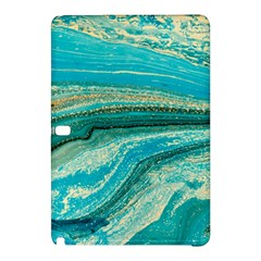 Mint,gold,marble,nature,stone,pattern,modern,chic,elegant,beautiful,trendy Samsung Galaxy Tab Pro 12 2 Hardshell Case by 8fugoso