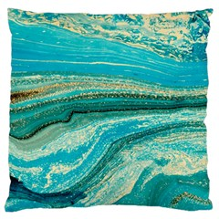 Mint,gold,marble,nature,stone,pattern,modern,chic,elegant,beautiful,trendy Standard Flano Cushion Case (One Side)