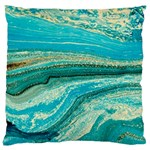 Mint,gold,marble,nature,stone,pattern,modern,chic,elegant,beautiful,trendy Large Flano Cushion Case (One Side) Front