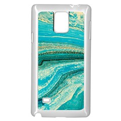 Mint,gold,marble,nature,stone,pattern,modern,chic,elegant,beautiful,trendy Samsung Galaxy Note 4 Case (white)