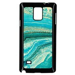 Mint,gold,marble,nature,stone,pattern,modern,chic,elegant,beautiful,trendy Samsung Galaxy Note 4 Case (Black) Front