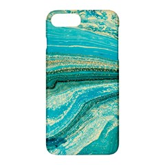 Mint,gold,marble,nature,stone,pattern,modern,chic,elegant,beautiful,trendy Apple iPhone 7 Plus Hardshell Case