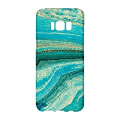 Mint,gold,marble,nature,stone,pattern,modern,chic,elegant,beautiful,trendy Samsung Galaxy S8 Hardshell Case  by 8fugoso