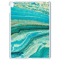 Mint,gold,marble,nature,stone,pattern,modern,chic,elegant,beautiful,trendy Apple Ipad Pro 9 7   White Seamless Case by 8fugoso