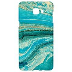 Mint,gold,marble,nature,stone,pattern,modern,chic,elegant,beautiful,trendy Samsung C9 Pro Hardshell Case  by 8fugoso