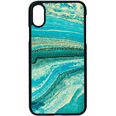 Mint,gold,marble,nature,stone,pattern,modern,chic,elegant,beautiful,trendy Apple Iphone X Seamless Case (black)