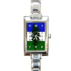 Flag Of Cascadia Rectangle Italian Charm Watch