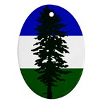 Flag of Cascadia Ornament (Oval) Front
