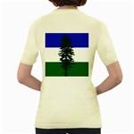 Flag of Cascadia Women s Yellow T-Shirt Back