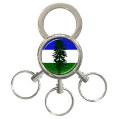 Flag Of Cascadia 3 Ring Key Chains
