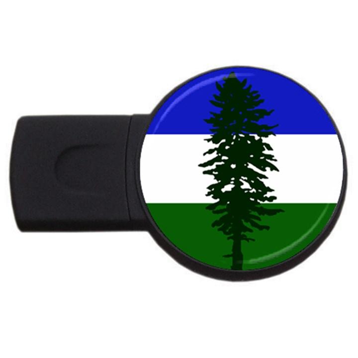 Flag of Cascadia USB Flash Drive Round (2 GB)