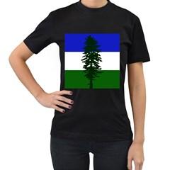 Flag Of Cascadia Women s T Shirt (black) (two Sided)