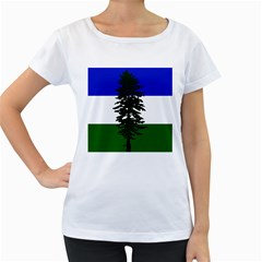 Flag Of Cascadia Women s Loose Fit T Shirt (white)