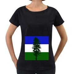 Flag Of Cascadia Women s Loose Fit T Shirt (black) by abbeyz71