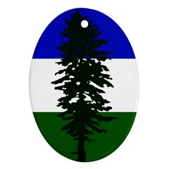 Flag Of Cascadia Oval Ornament (two Sides) by abbeyz71