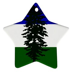 Flag Of Cascadia Star Ornament (two Sides)