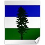 Flag of Cascadia Canvas 11  x 14   14 x11 Canvas - 1