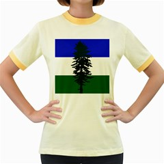Flag Of Cascadia Women s Fitted Ringer T Shirts