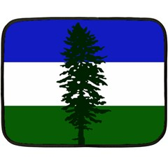 Flag Of Cascadia Double Sided Fleece Blanket (mini)