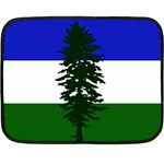 Flag of Cascadia Double Sided Fleece Blanket (Mini)  35 x27 Blanket Back