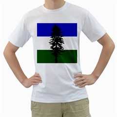 Flag Of Cascadia Men s T Shirt (white) (two Sided) by abbeyz71