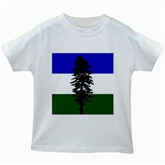 Flag Of Cascadia Kids White T Shirts