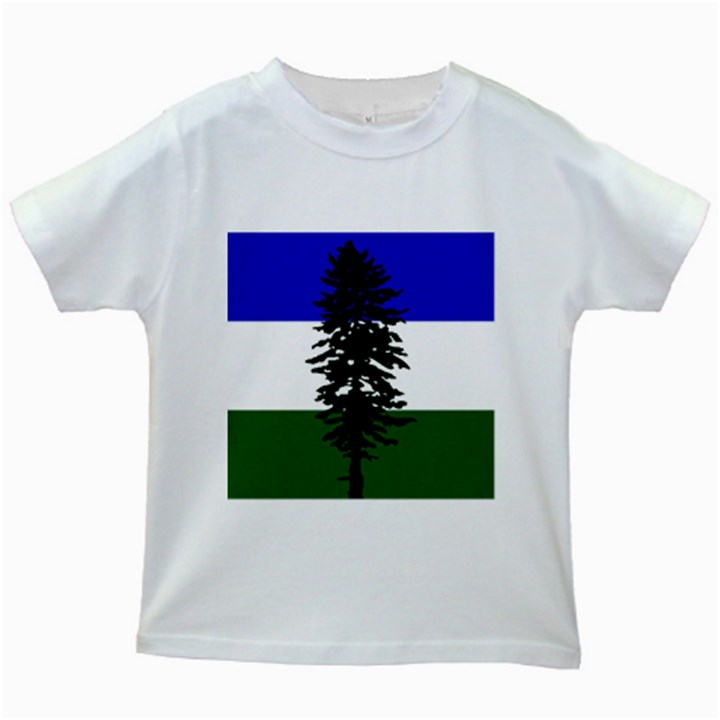Flag of Cascadia Kids White T-Shirts