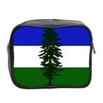 Flag of Cascadia Mini Toiletries Bag 2-Side Back