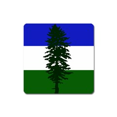 Flag Of Cascadia Square Magnet by abbeyz71
