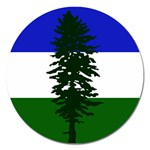 Flag of Cascadia Magnet 5  (Round) Front