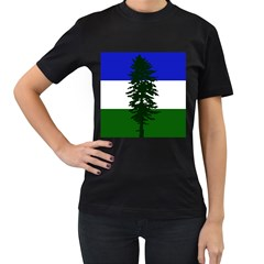 Flag Of Cascadia Women s T Shirt (black) (two Sided)