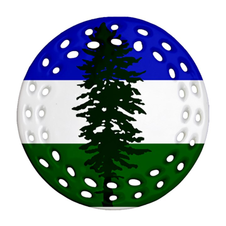 Flag of Cascadia Ornament (Round Filigree)